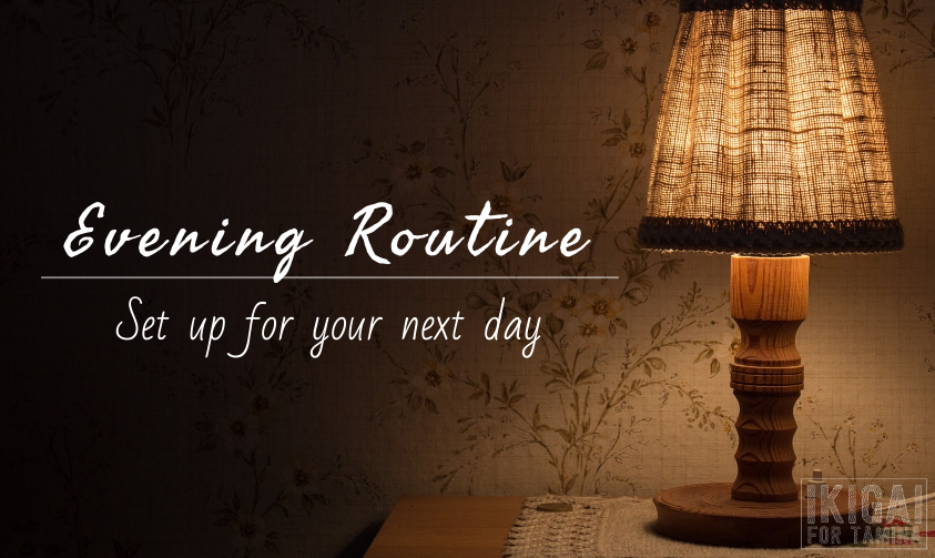 Evening routine section header image